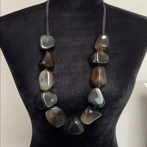 Chico's Brown Lucite Nuggets Necklaces Adjustable